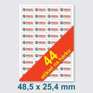 48,5 x 25,4 mm – 40 etikiet na hárku